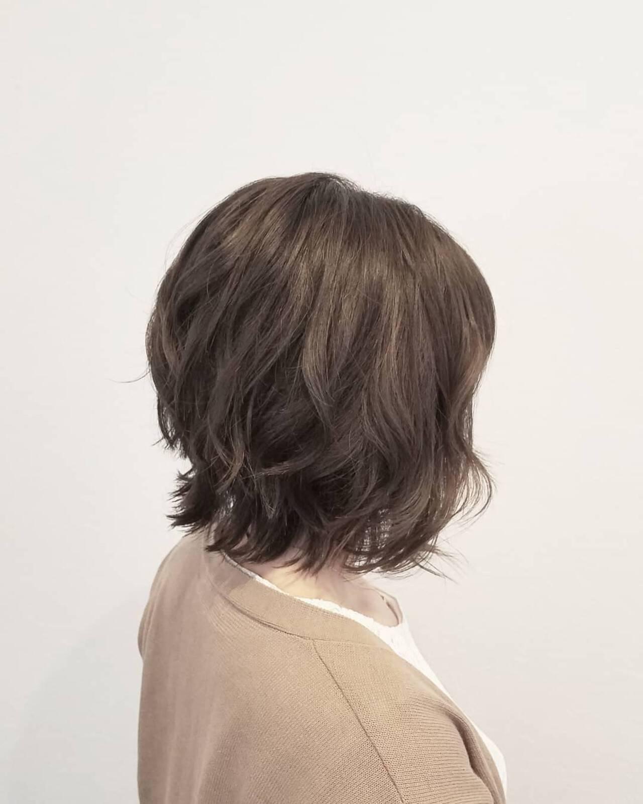 透明感 秋 ミディアム エフォートレスヘアスタイルや髪型の写真・画像