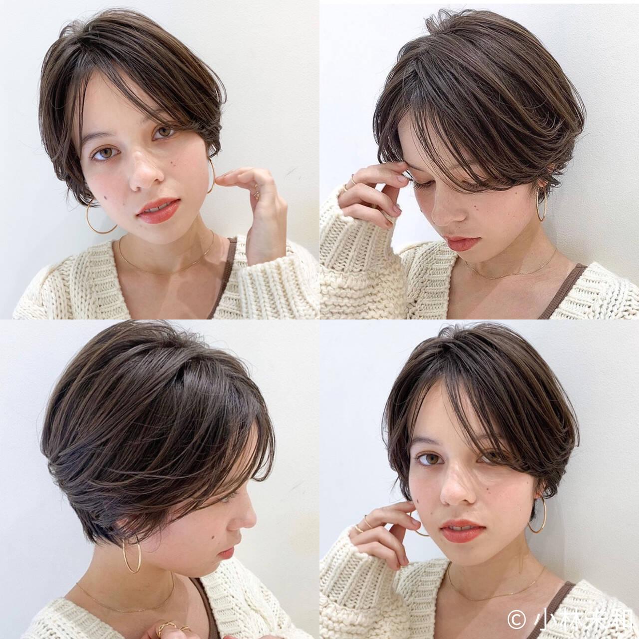 ショート ショートボブ ナチュラル 外国人風カラーヘアスタイルや髪型の写真・画像