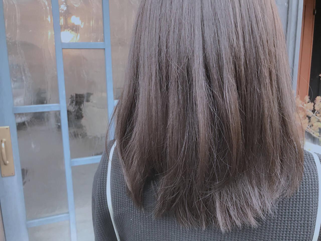 ダークカラー 男ウケ セミロング ショコラブラウンヘアスタイルや髪型の写真・画像