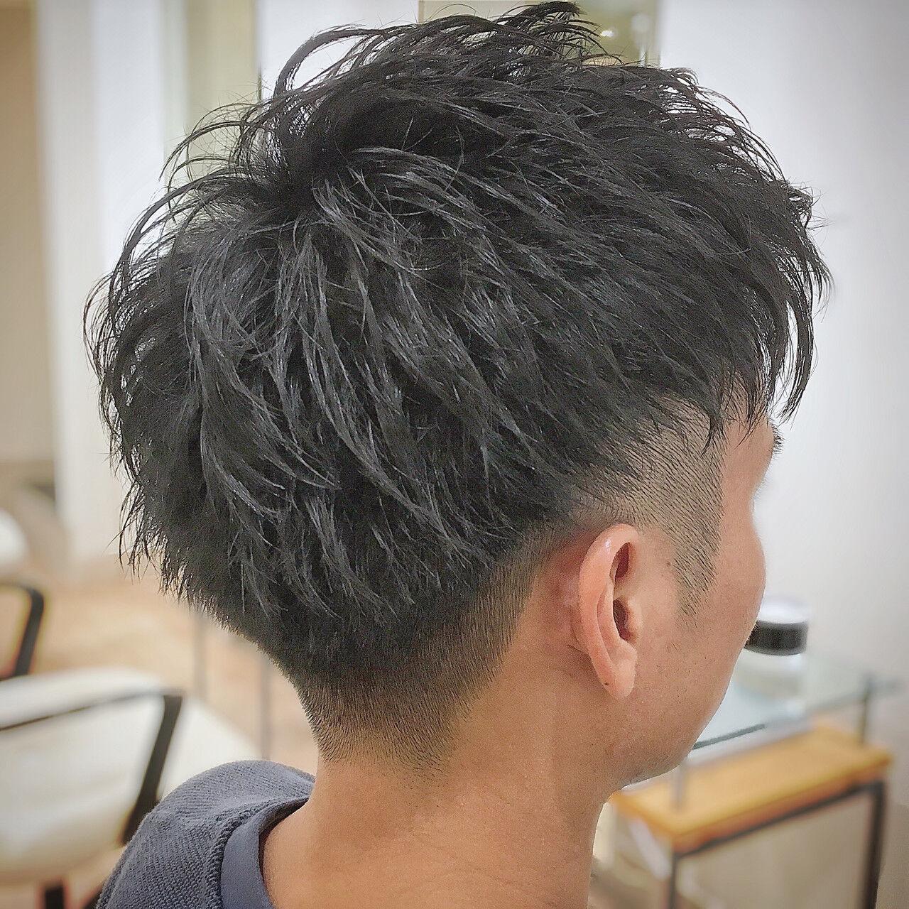 刈り上げ フェードカット ストリート メンズヘアスタイルや髪型の写真・画像