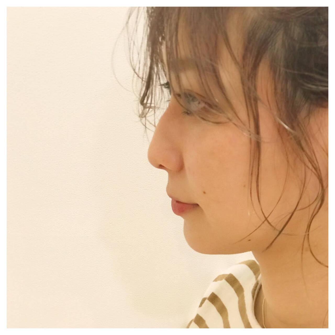 ガーリー アンニュイほつれヘア ヘアアレンジ デートヘアスタイルや髪型の写真・画像