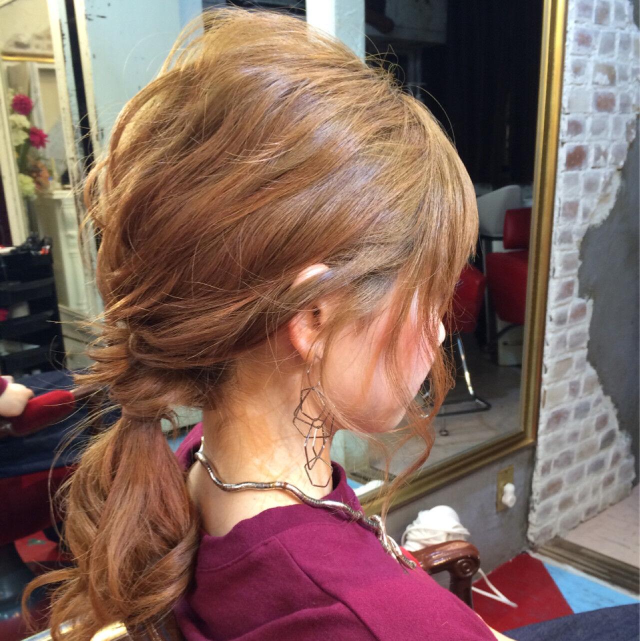 ハーフアップ 簡単ヘアアレンジ フェミニン ゆるふわヘアスタイルや髪型の写真・画像