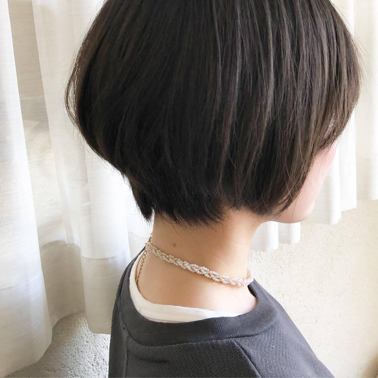 ショート ナチュラル 外国人風カラー ショートボブヘアスタイルや髪型の写真・画像