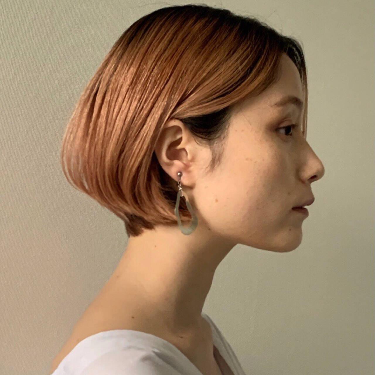 ブリーチカラー モード ハイトーンカラー 大人かわいいヘアスタイルや髪型の写真・画像