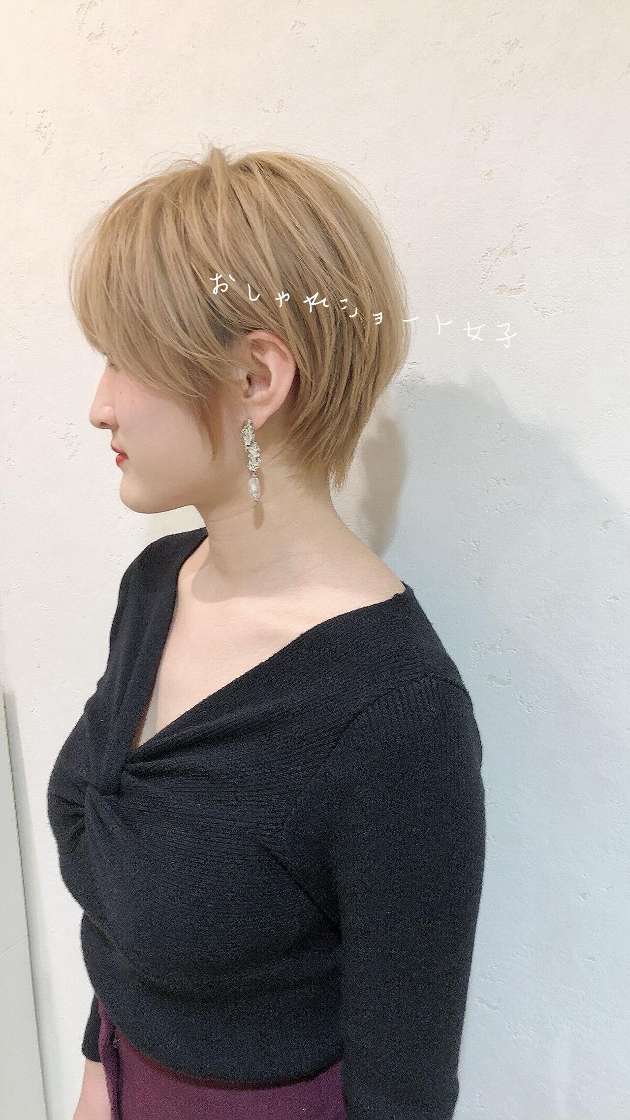 ショート ガーリー ショートヘアヘアスタイルや髪型の写真・画像