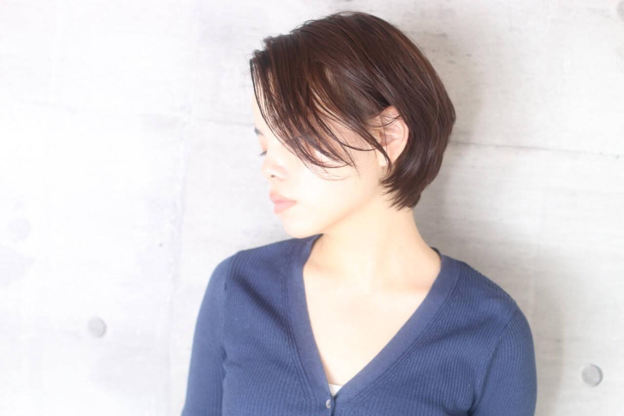 ショートボブ ショート ショートヘア ナチュラルヘアスタイルや髪型の写真・画像