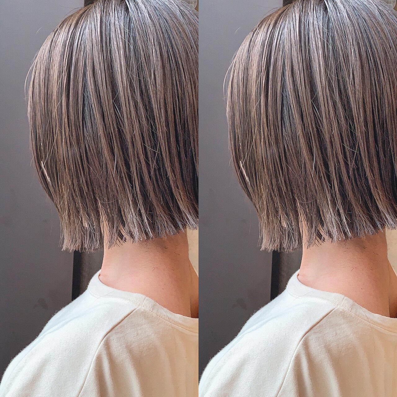 ショート ショートヘア ショートボブ ナチュラルヘアスタイルや髪型の写真・画像