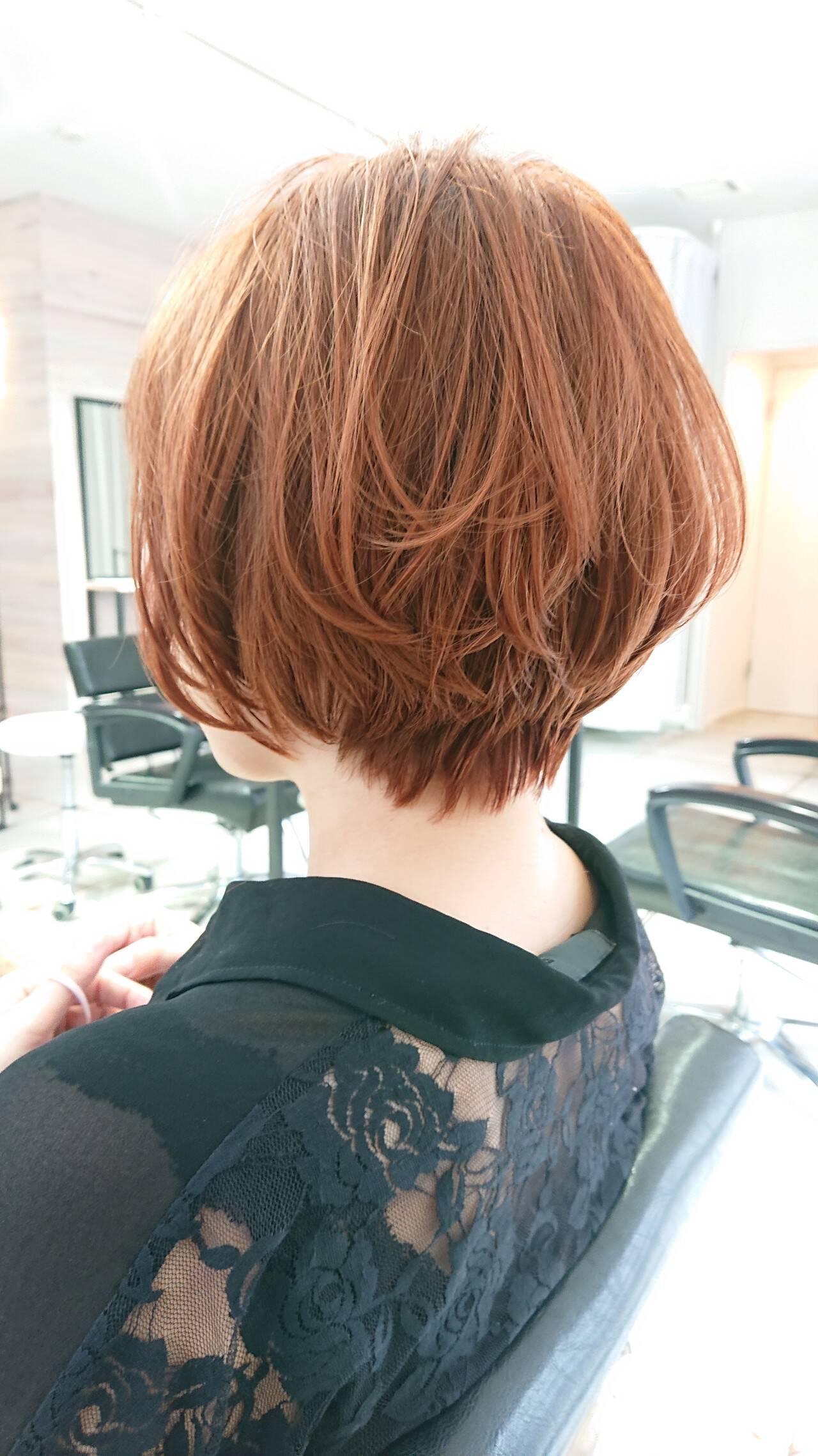 ナチュラル ショート 透明感 美シルエットヘアスタイルや髪型の写真・画像