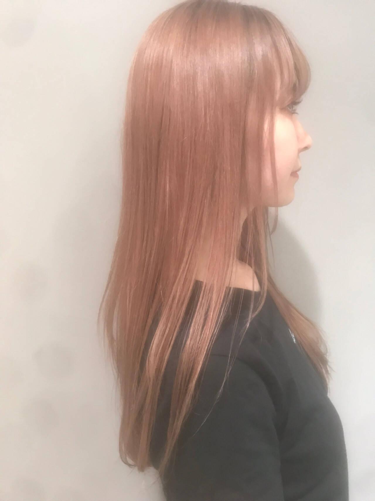 外国人風カラー 抜け感 ピンク 透明感ヘアスタイルや髪型の写真・画像