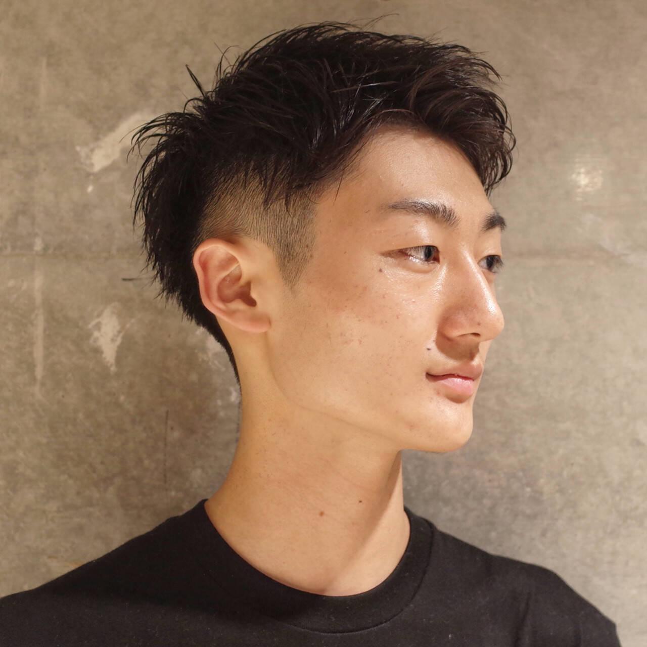 刈り上げ ツーブロック メンズ ショートヘアスタイルや髪型の写真・画像