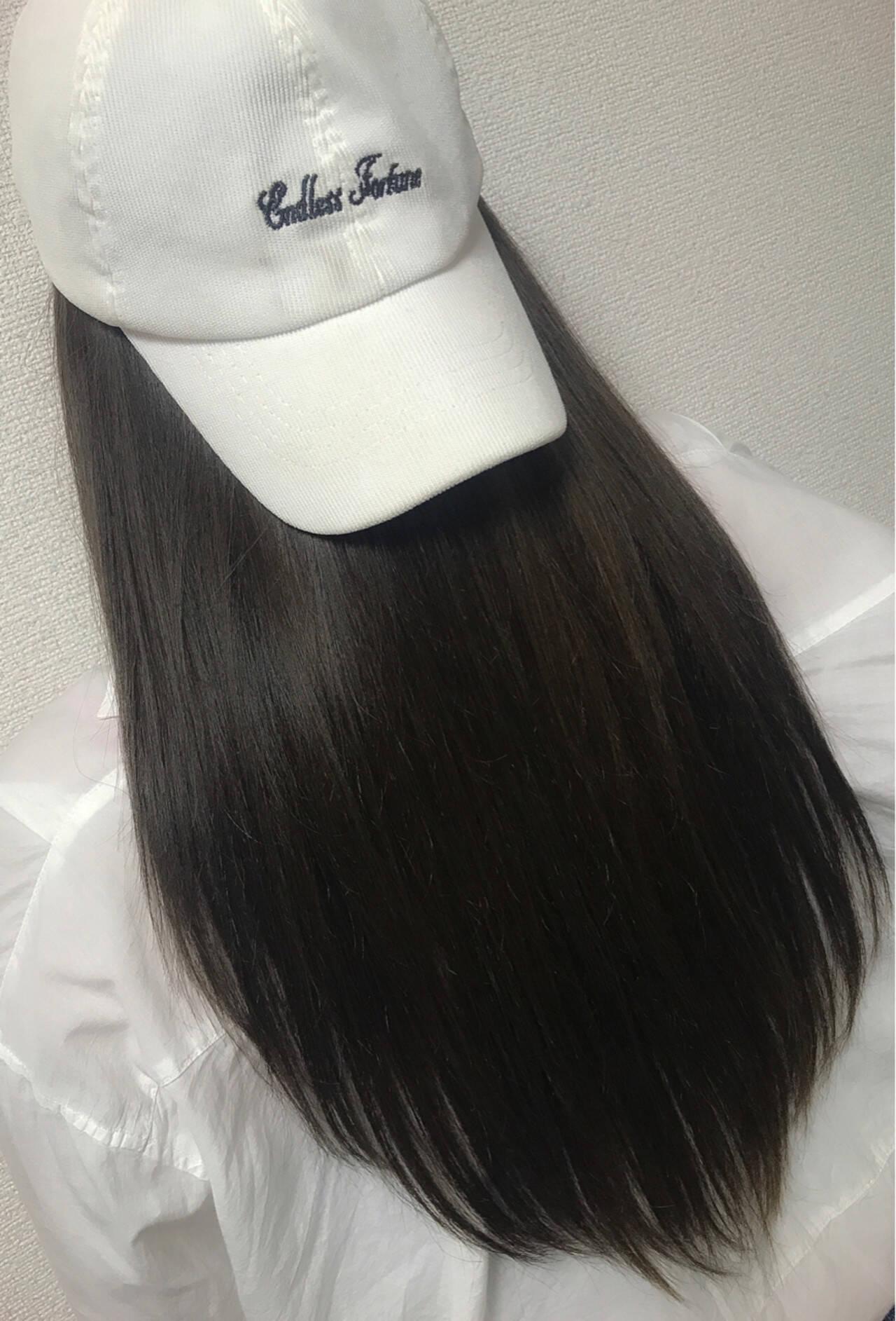 ナチュラル 黒髪 アッシュ ロングヘアスタイルや髪型の写真・画像