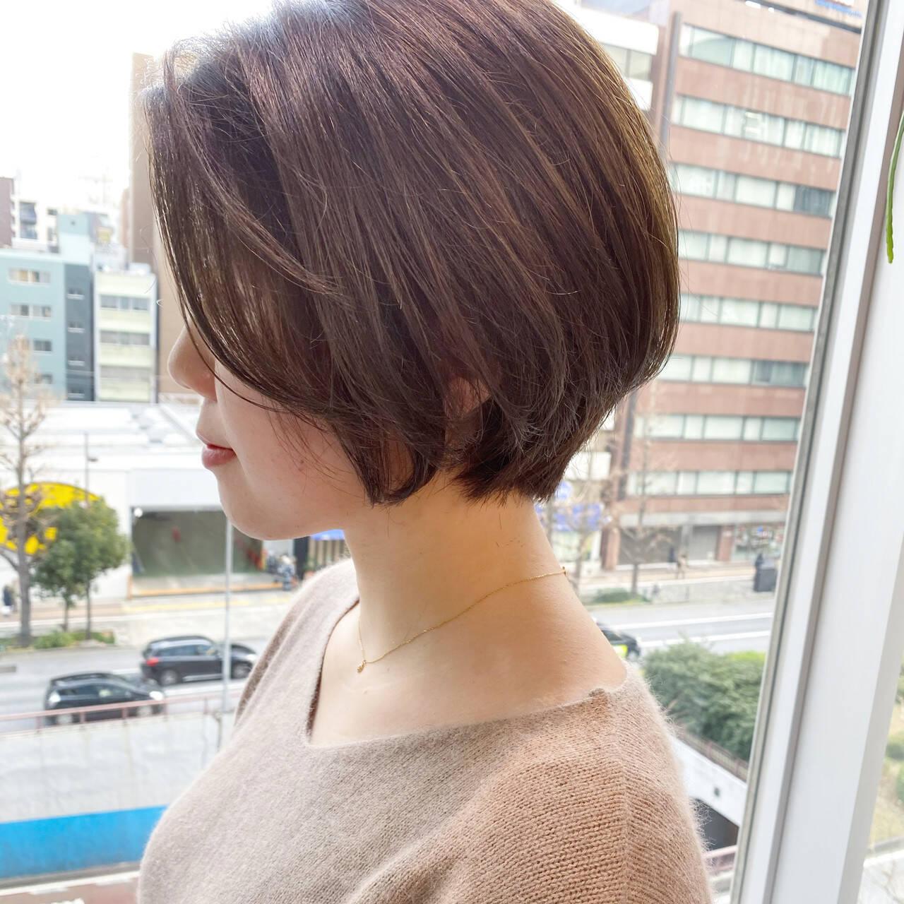 ゆるふわ ショートボブ ショートヘア ナチュラルヘアスタイルや髪型の写真・画像