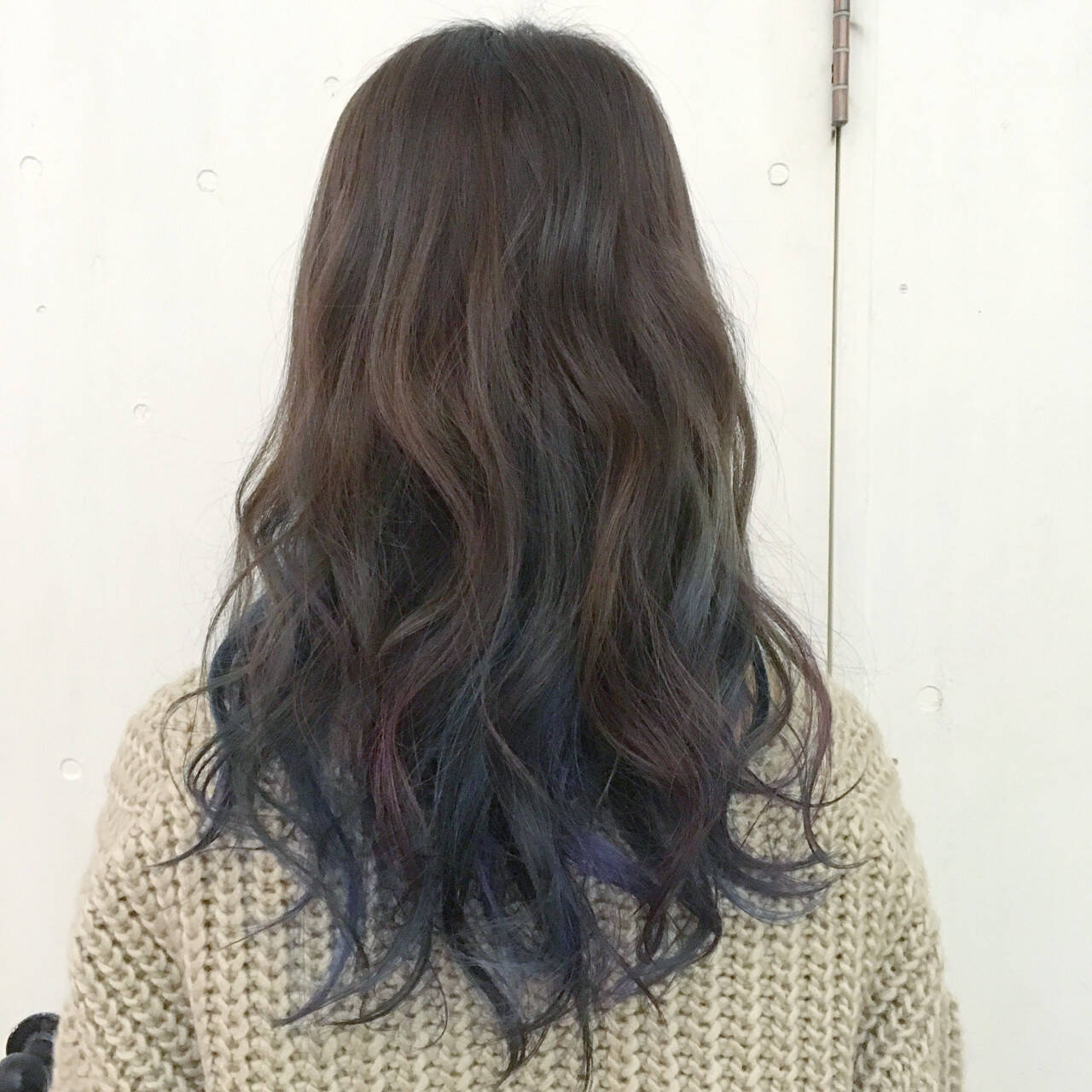 ブルー グラデーションカラー ネイビー ストリートヘアスタイルや髪型の写真・画像