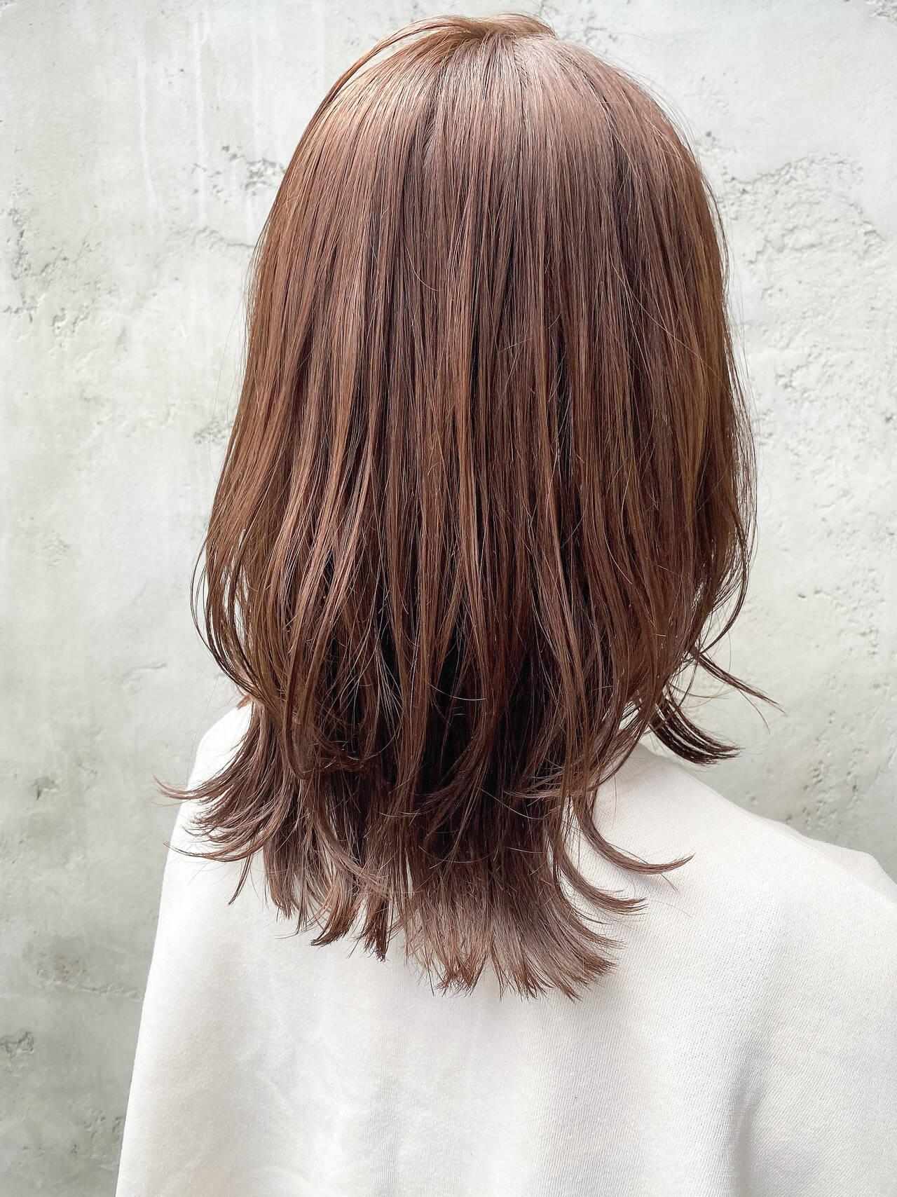 レイヤーボブ ウルフレイヤー 縮毛矯正ストカール ナチュラルヘアスタイルや髪型の写真・画像