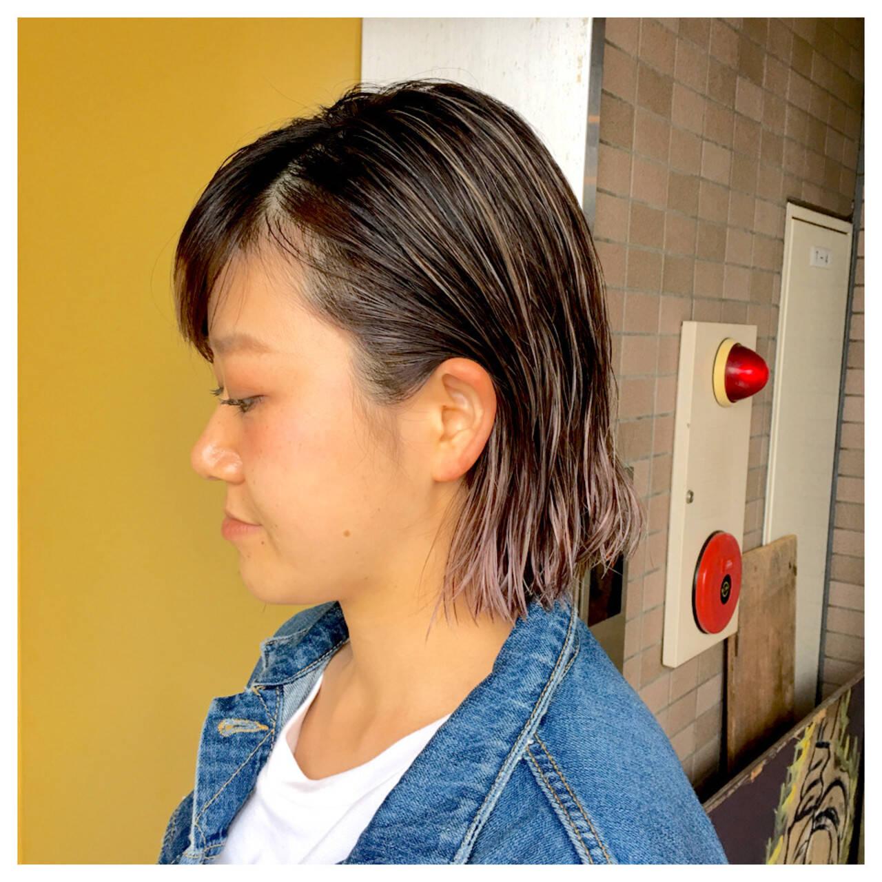 夏 外国人風 ウェットヘア ストリートヘアスタイルや髪型の写真・画像
