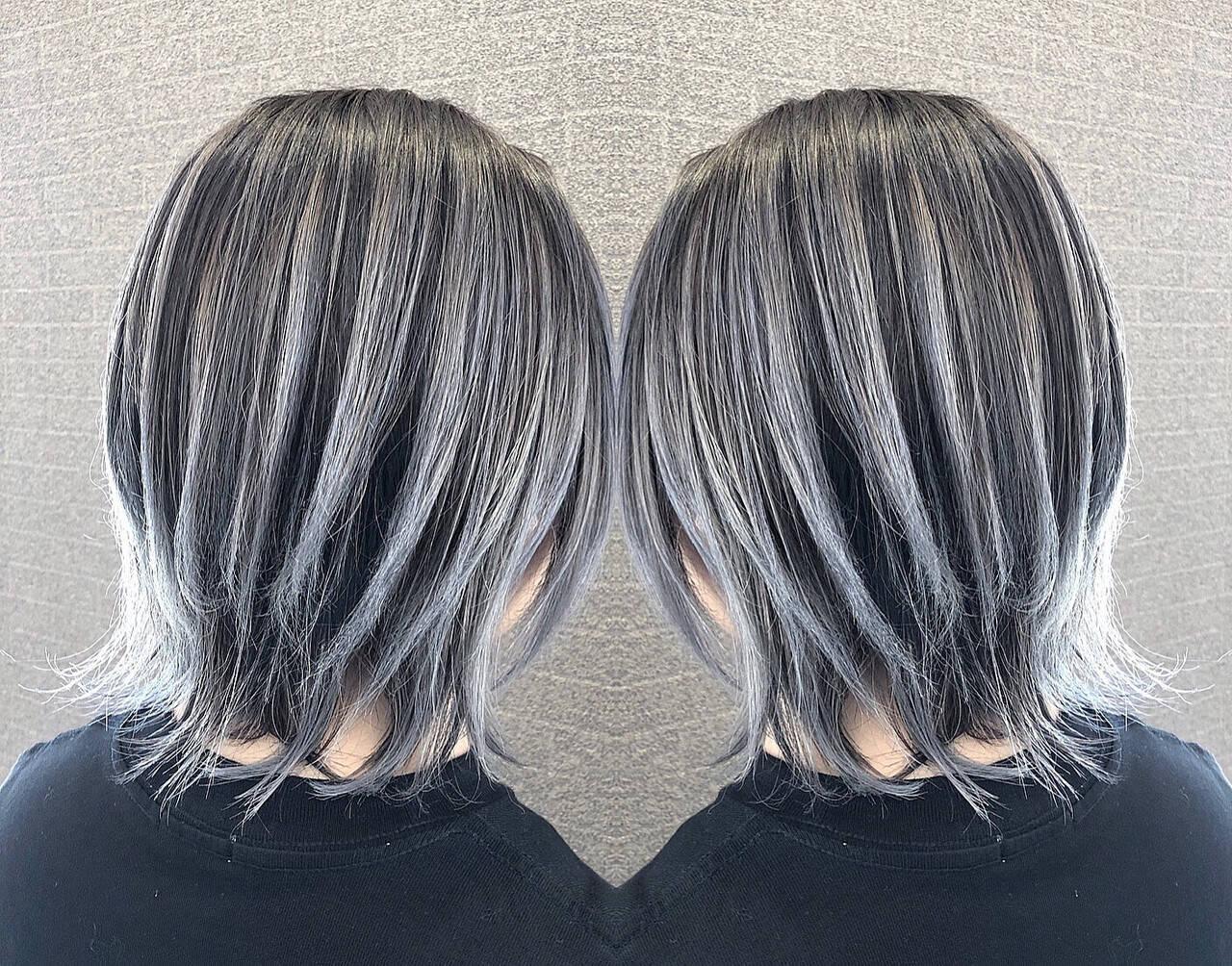ショート 外国人風カラー 外国人風 バレイヤージュヘアスタイルや髪型の写真・画像