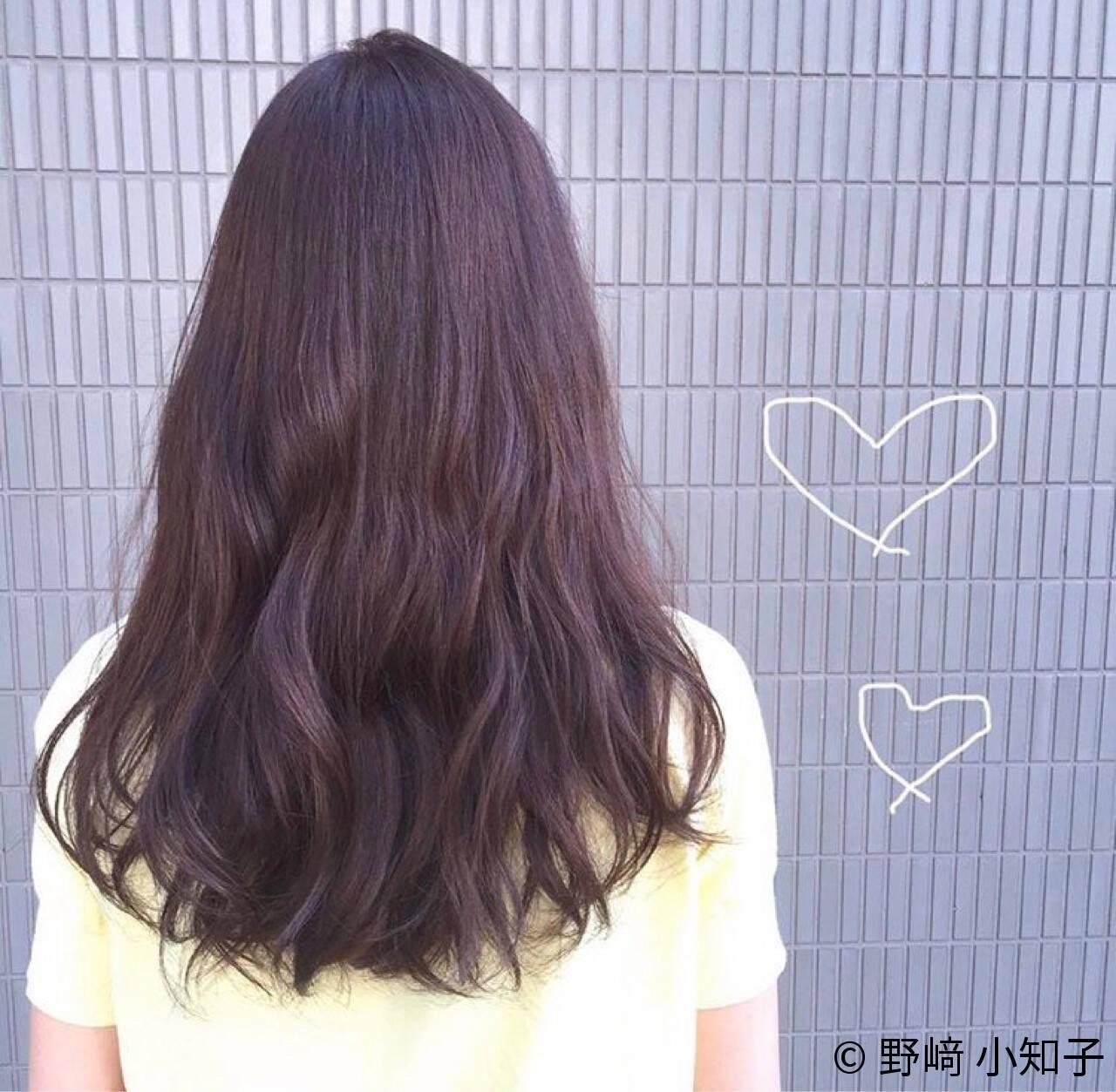 ラベンダーアッシュ 暗髪 デート ピンクブラウンヘアスタイルや髪型の写真・画像