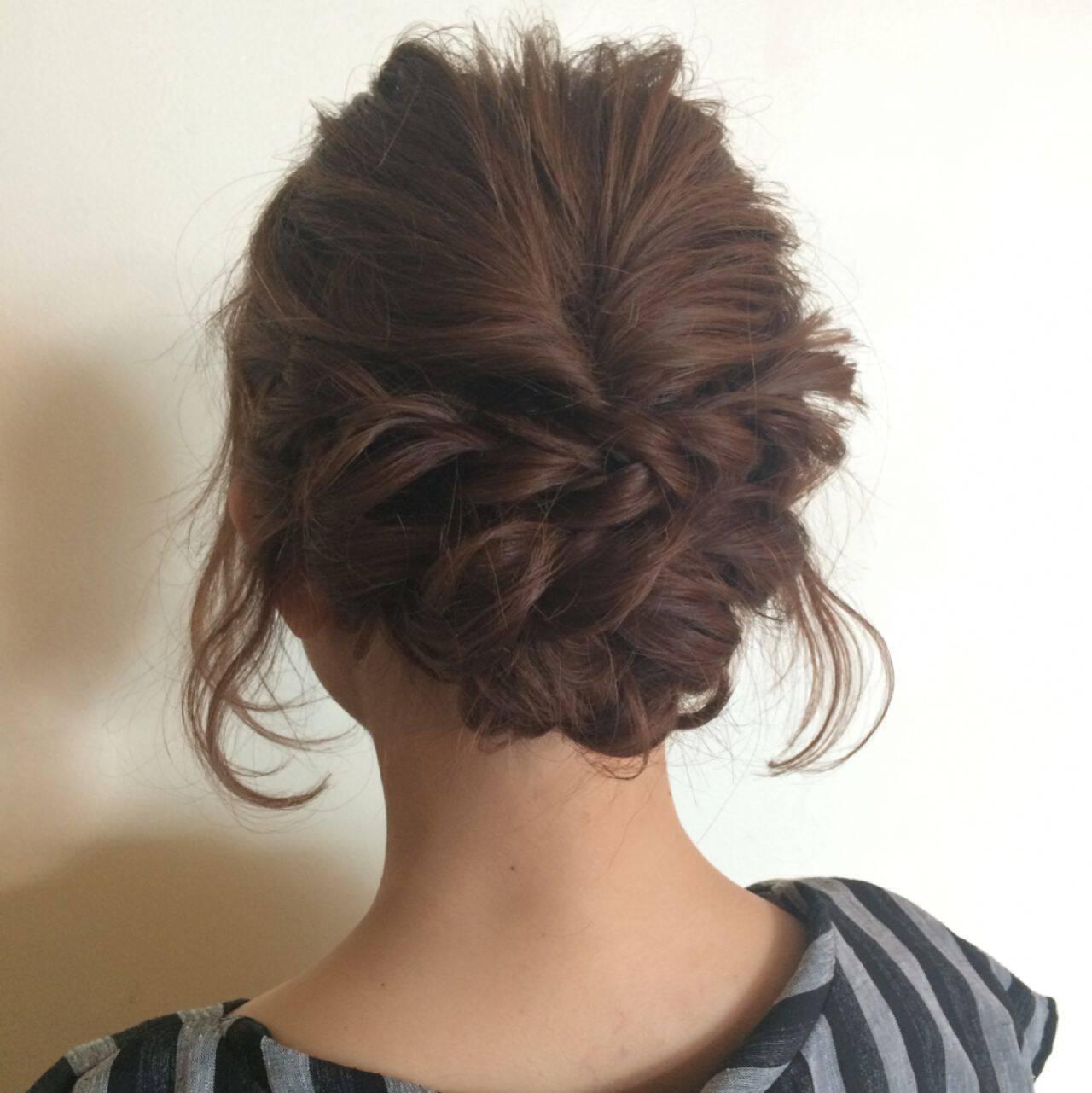 アップスタイル ナチュラル ヘアアレンジ パーティヘアスタイルや髪型の写真・画像