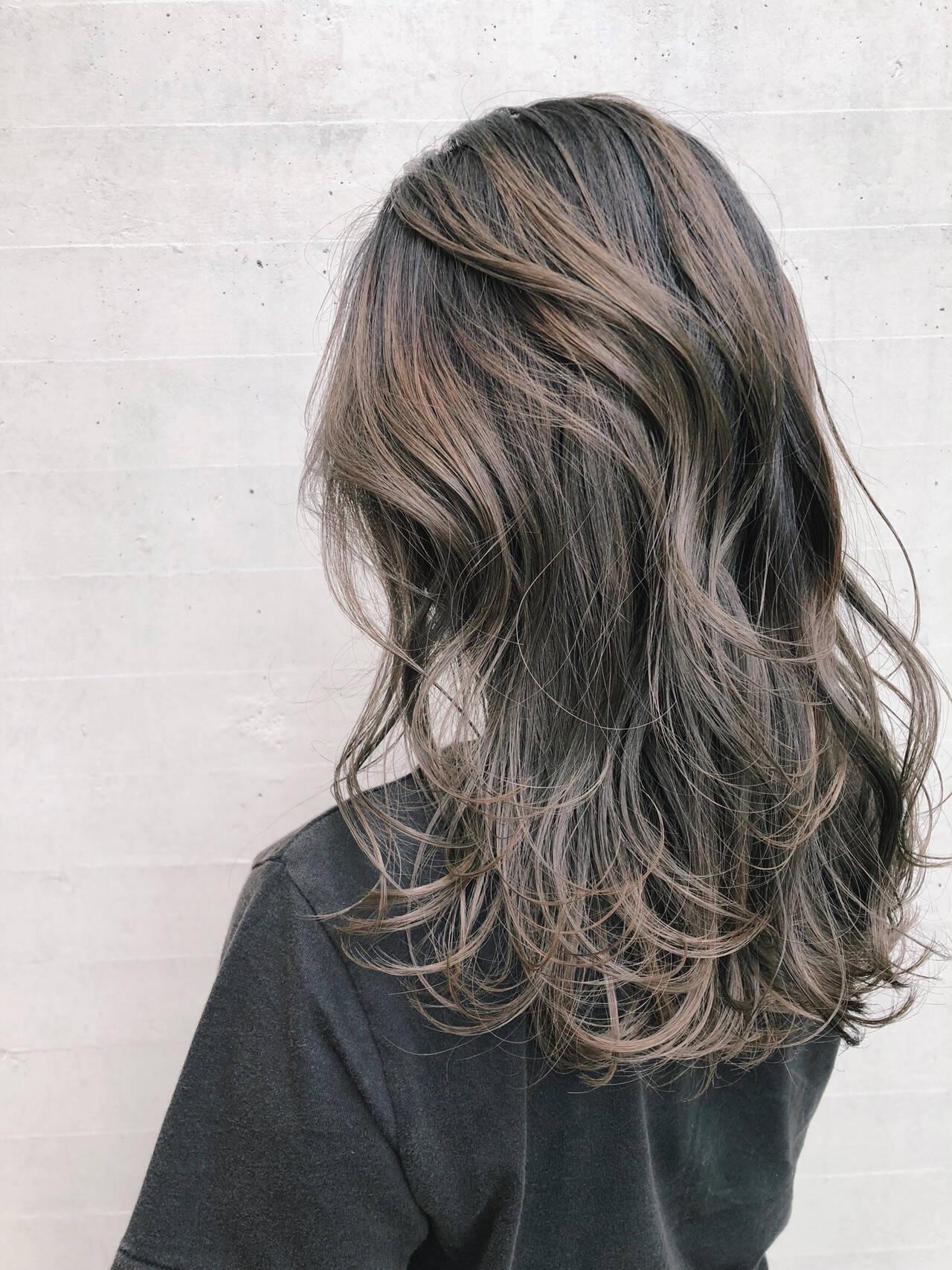 大人ハイライト ハイライト 3Dハイライト ストリートヘアスタイルや髪型の写真・画像