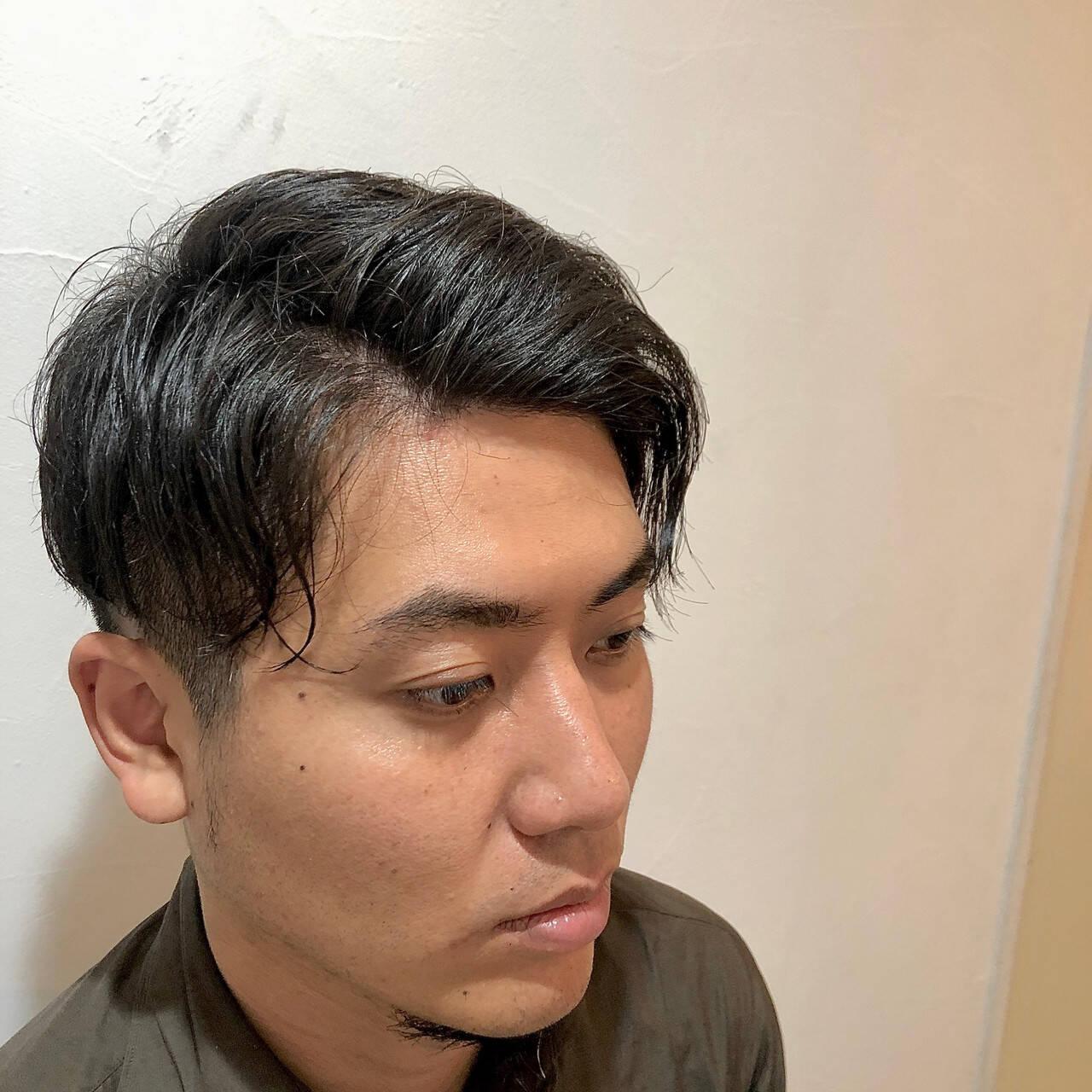 ショート 刈り上げ ナチュラル ツーブロックヘアスタイルや髪型の写真・画像