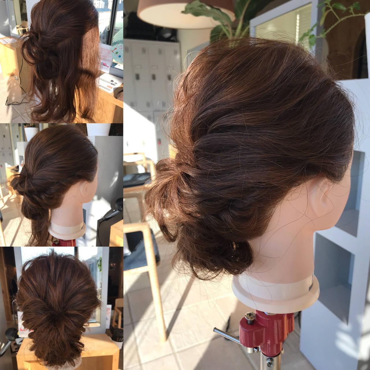 ヘアアレンジ ナチュラル ロープ編み ロングヘアスタイルや髪型の写真・画像