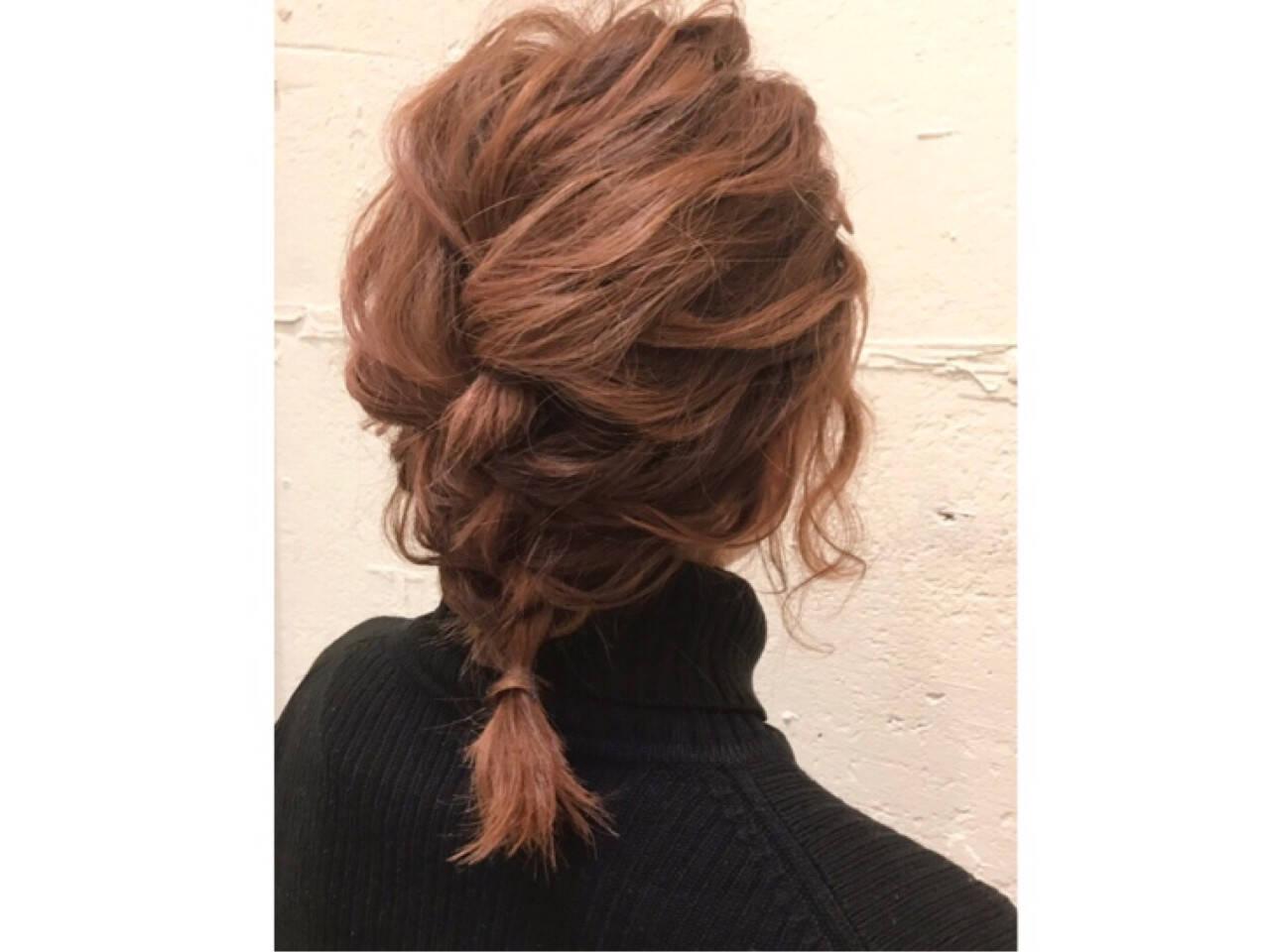 ショート ガーリー ボブ 簡単ヘアアレンジヘアスタイルや髪型の写真・画像