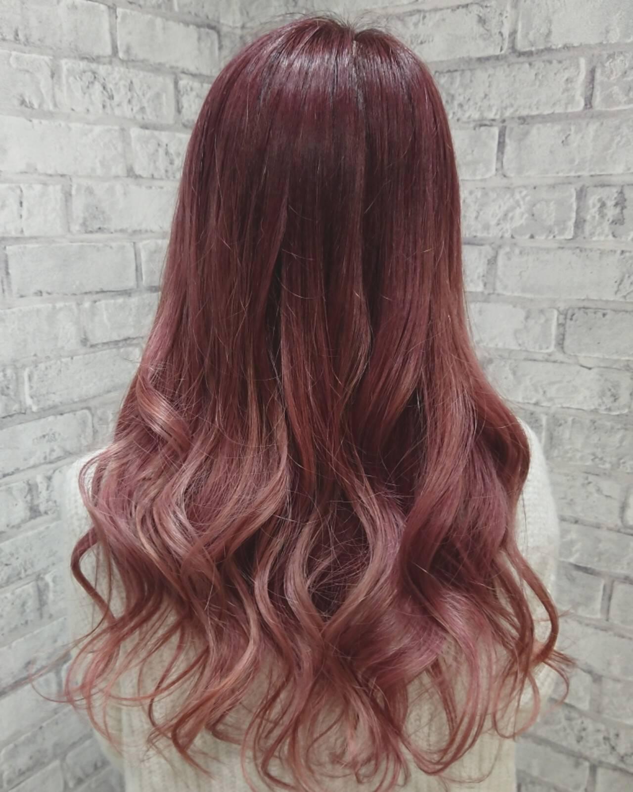 ロング ガーリー 外国人風カラー デートヘアスタイルや髪型の写真・画像