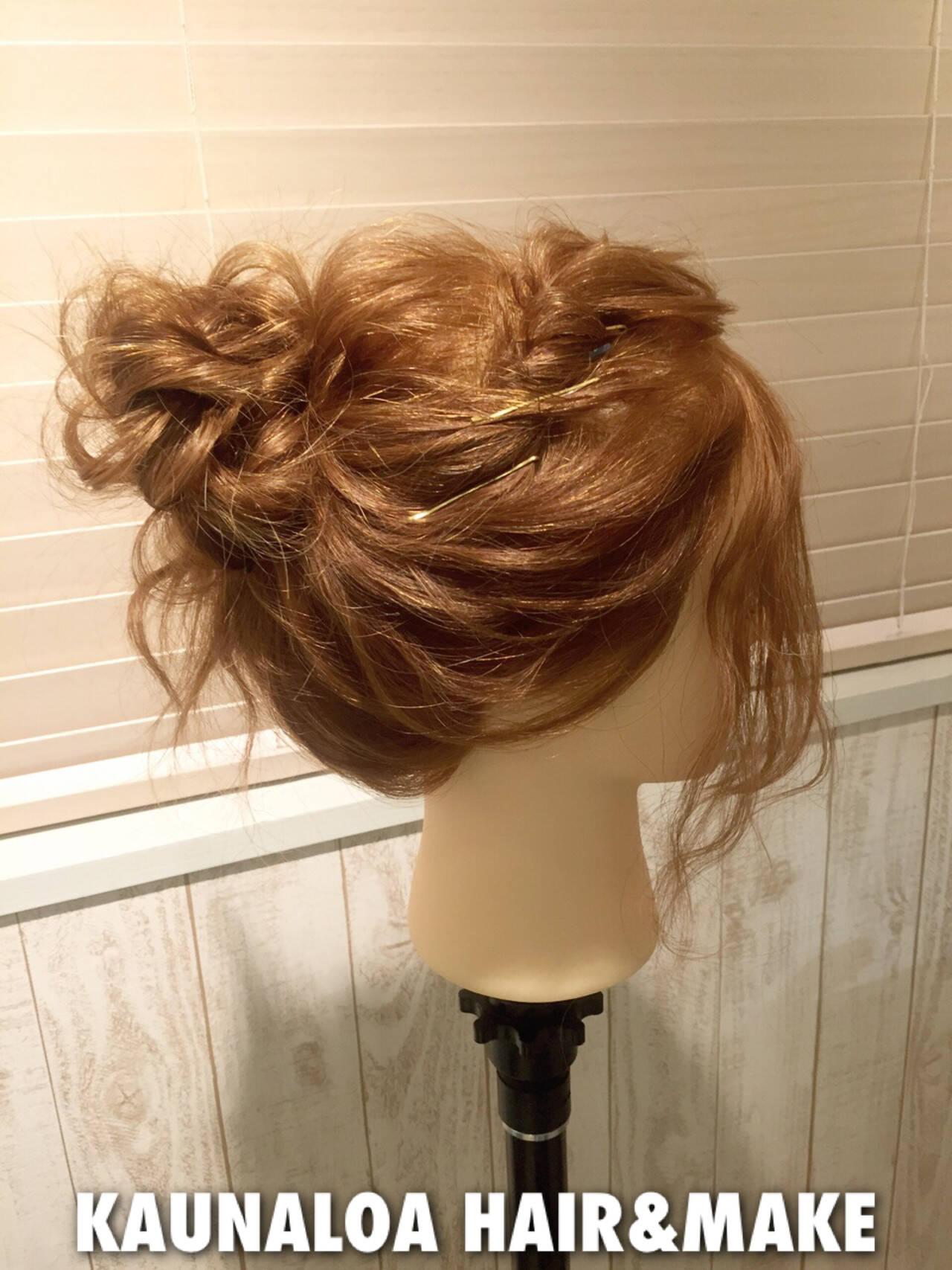 セミロング ゆるふわ ショート ヘアアクセヘアスタイルや髪型の写真・画像
