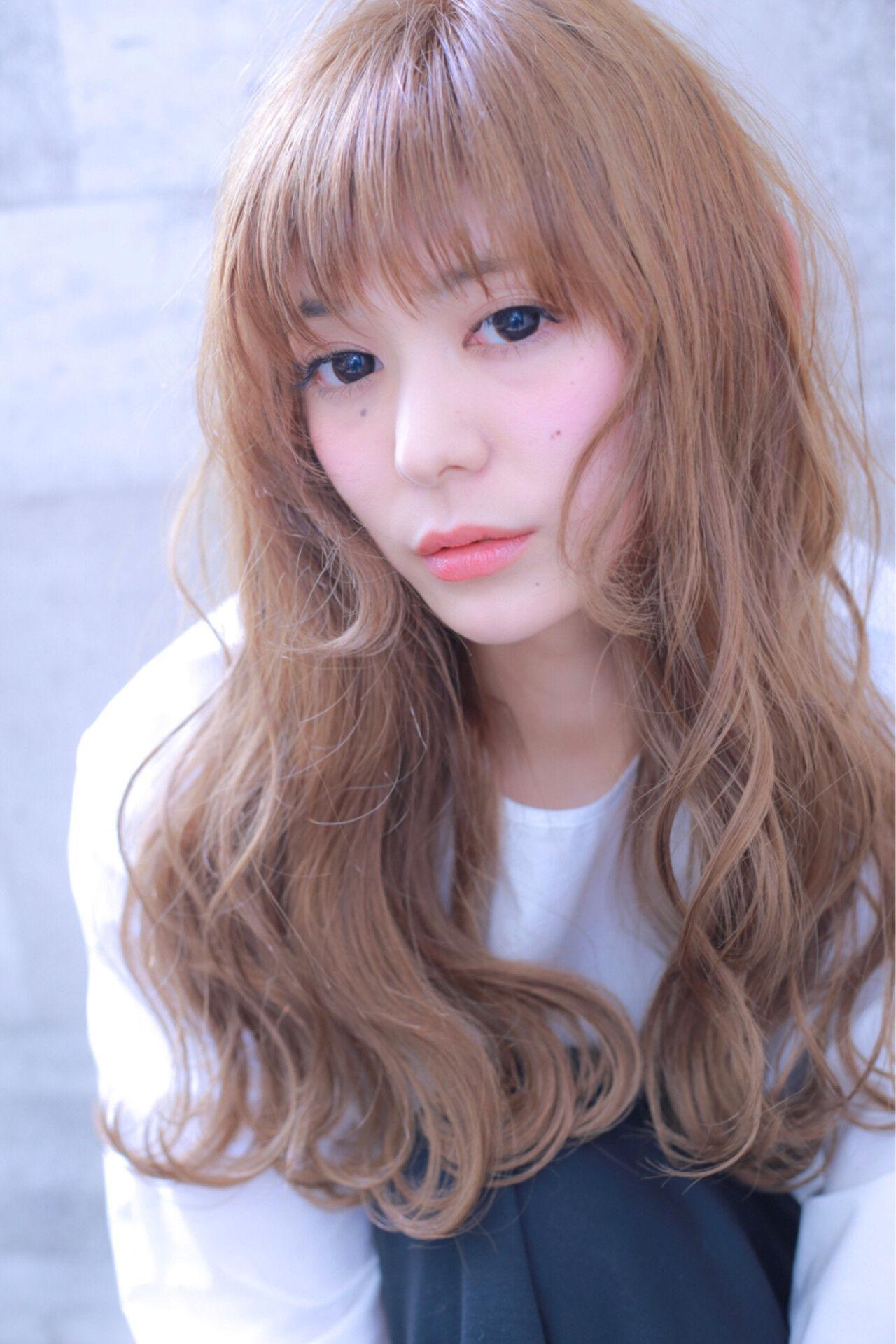 ダブルカラー 外国人風カラー ロング 前髪ありヘアスタイルや髪型の写真・画像