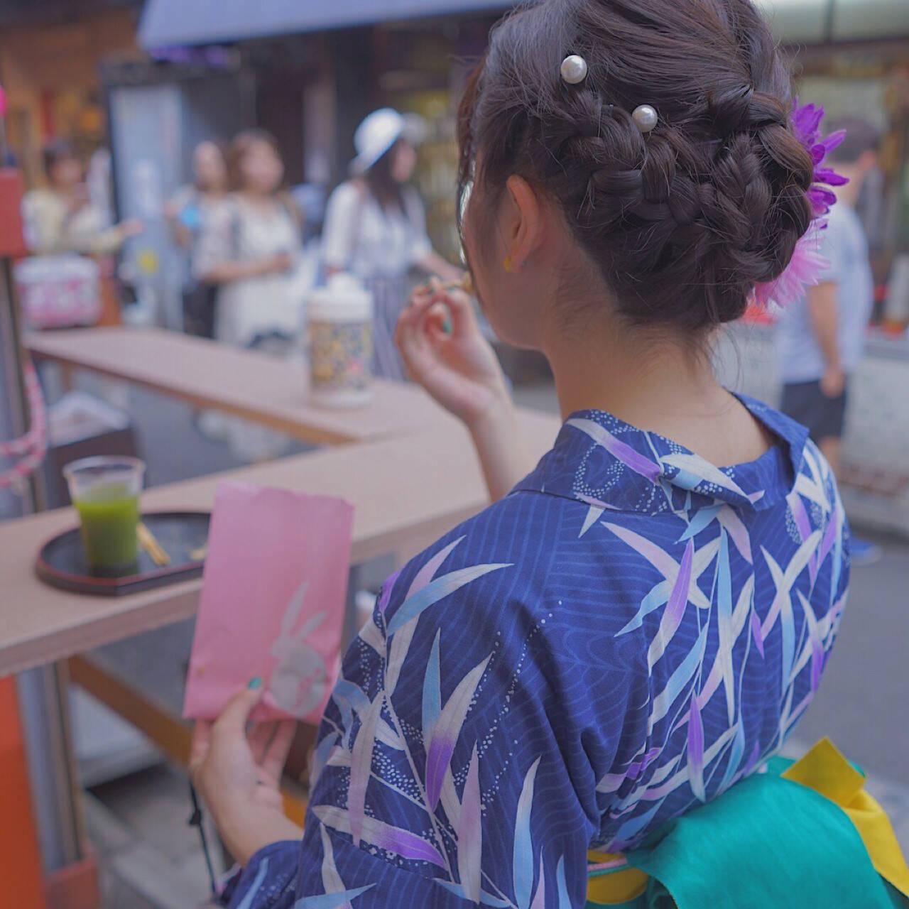夏 涼しげ 和装 お祭りヘアスタイルや髪型の写真・画像