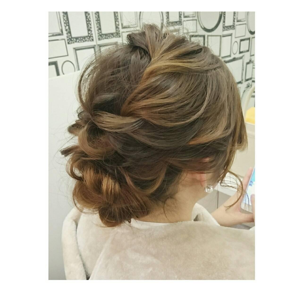 ロング フェミニン ヘアアレンジ 大人かわいいヘアスタイルや髪型の写真・画像