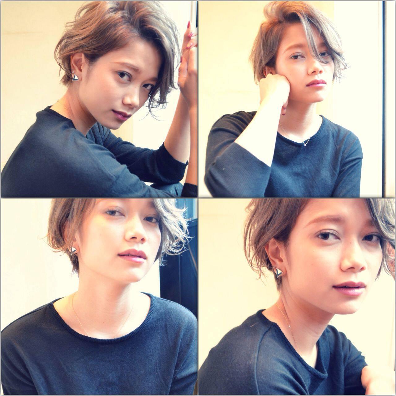 ショート 秋 ラフ モードヘアスタイルや髪型の写真・画像