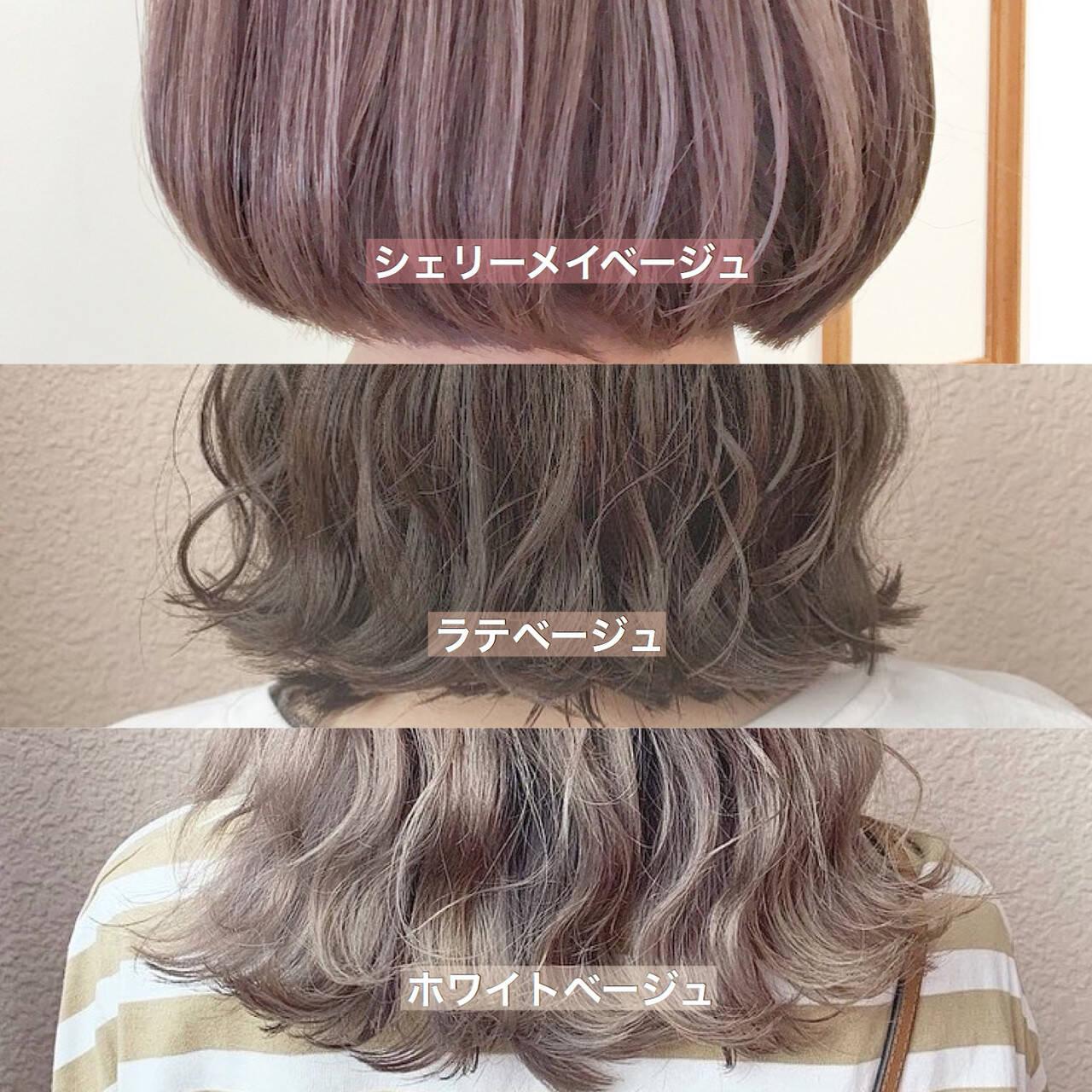 透明感カラー ブリーチカラー 大人可愛い ミニボブヘアスタイルや髪型の写真・画像