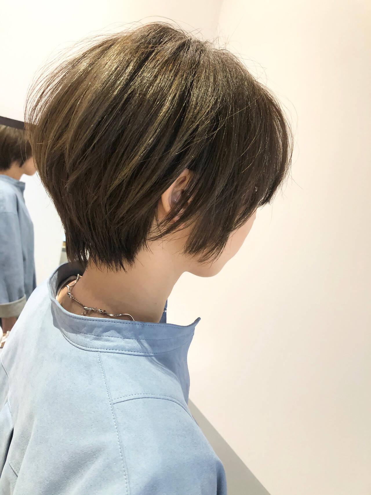 大人ショート ショート ショートボブ 小顔ショートヘアスタイルや髪型の写真・画像