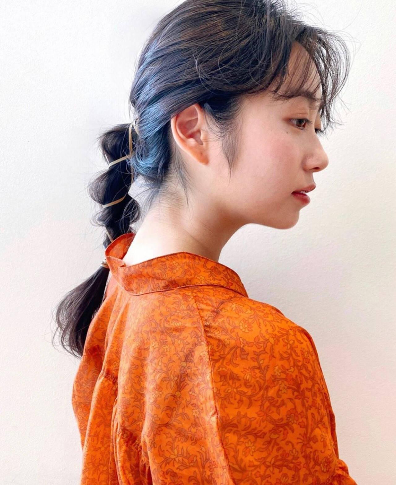ナチュラル ロング ヘアアレンジ 簡単ヘアアレンジヘアスタイルや髪型の写真・画像