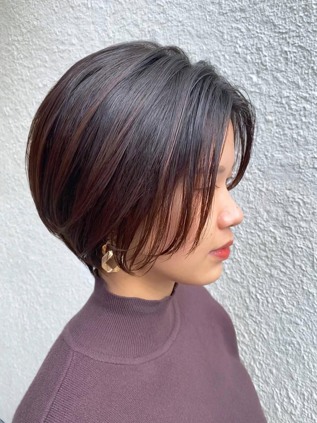 ベリーショート ナチュラル ショートヘア コンパクトショートヘアスタイルや髪型の写真・画像