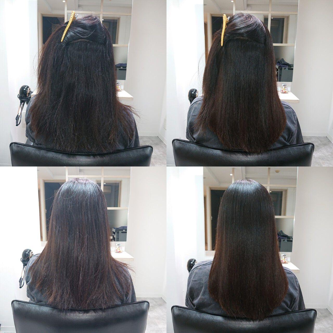 ロング 艶髪 髪質改善トリートメント ナチュラルヘアスタイルや髪型の写真・画像