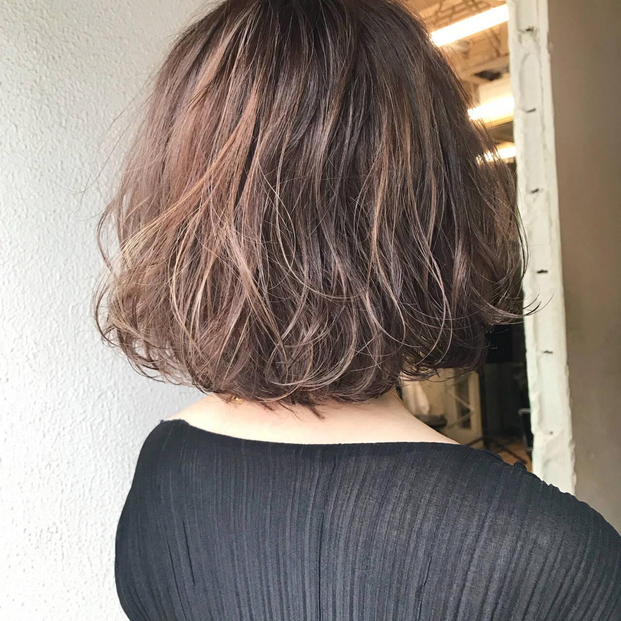 モード ブリーチ ナチュラル イルミナカラーヘアスタイルや髪型の写真・画像