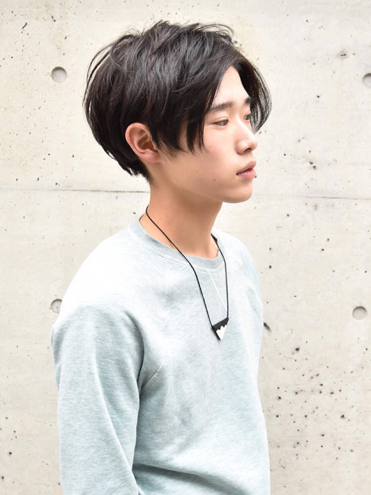 メンズ ストリート ショート 黒髪ヘアスタイルや髪型の写真・画像