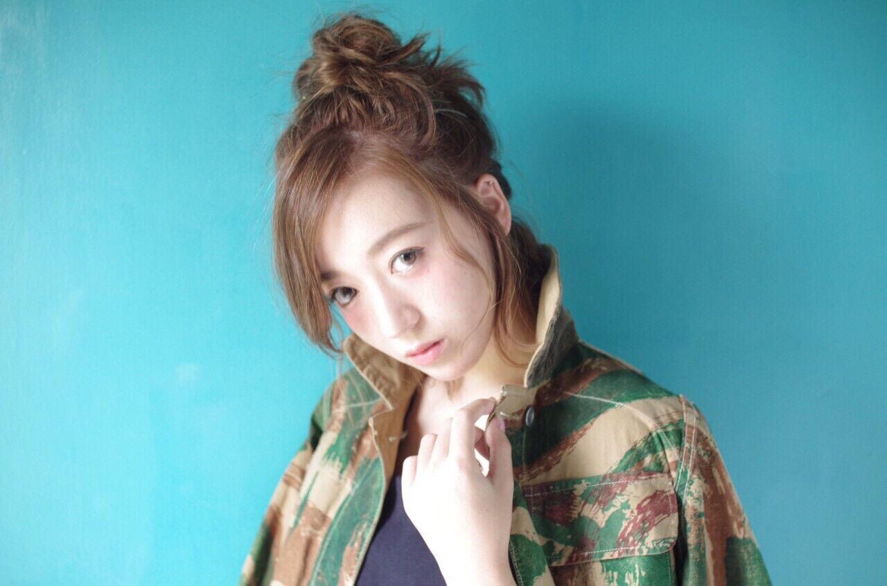 ミディアム ヘアアレンジ 渋谷系 大人かわいいヘアスタイルや髪型の写真・画像
