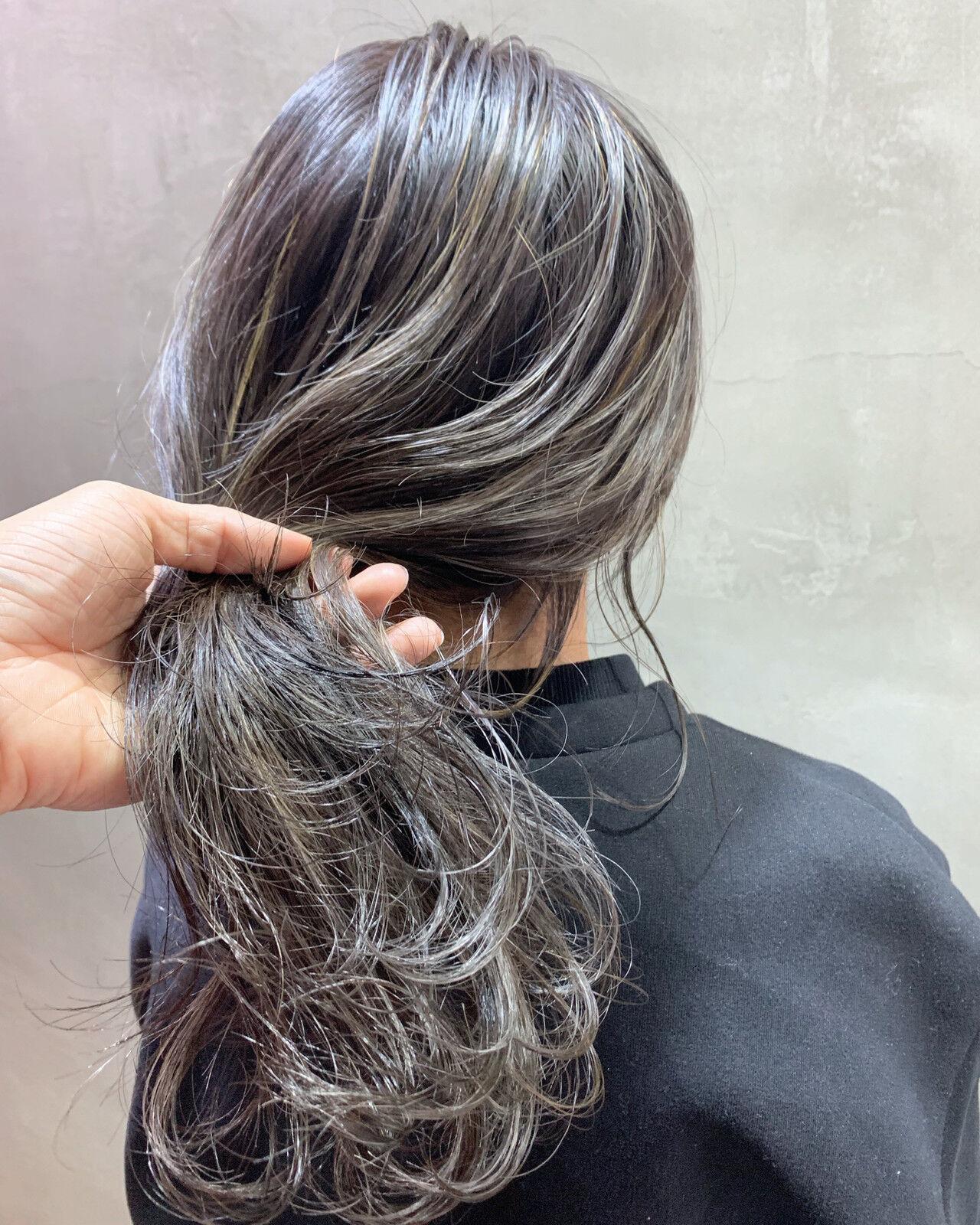 ストリート ハイライト 3Dハイライト ロングヘアスタイルや髪型の写真・画像