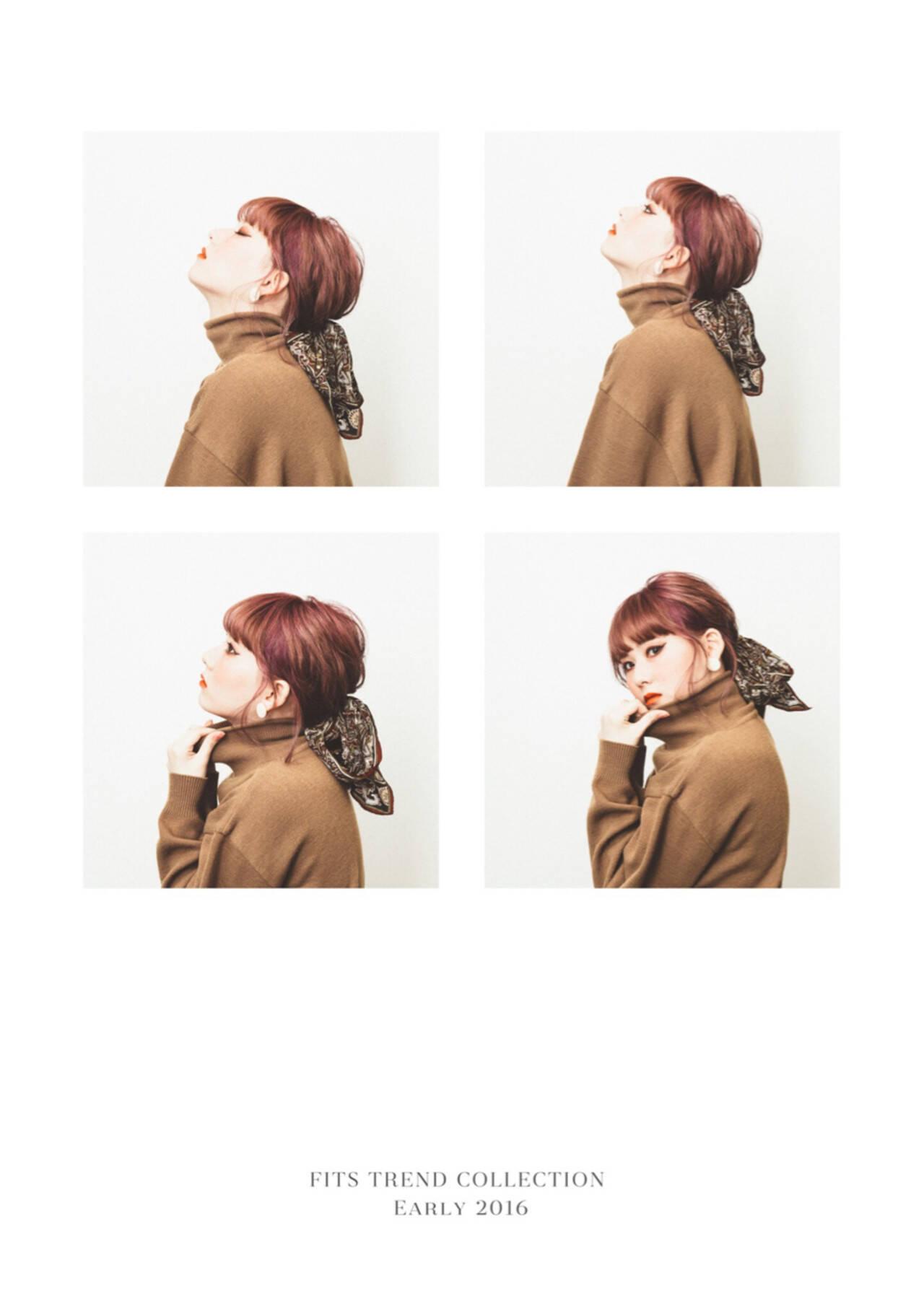 ショート 前髪あり ヘアアレンジ モードヘアスタイルや髪型の写真・画像