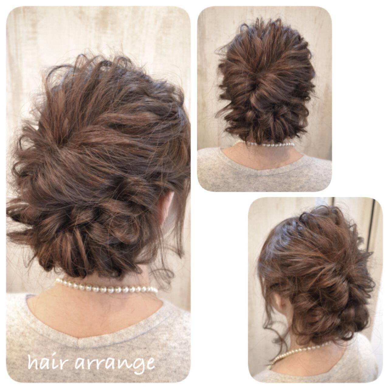 ヘアアレンジ フェミニン コンサバ 簡単ヘアアレンジヘアスタイルや髪型の写真・画像