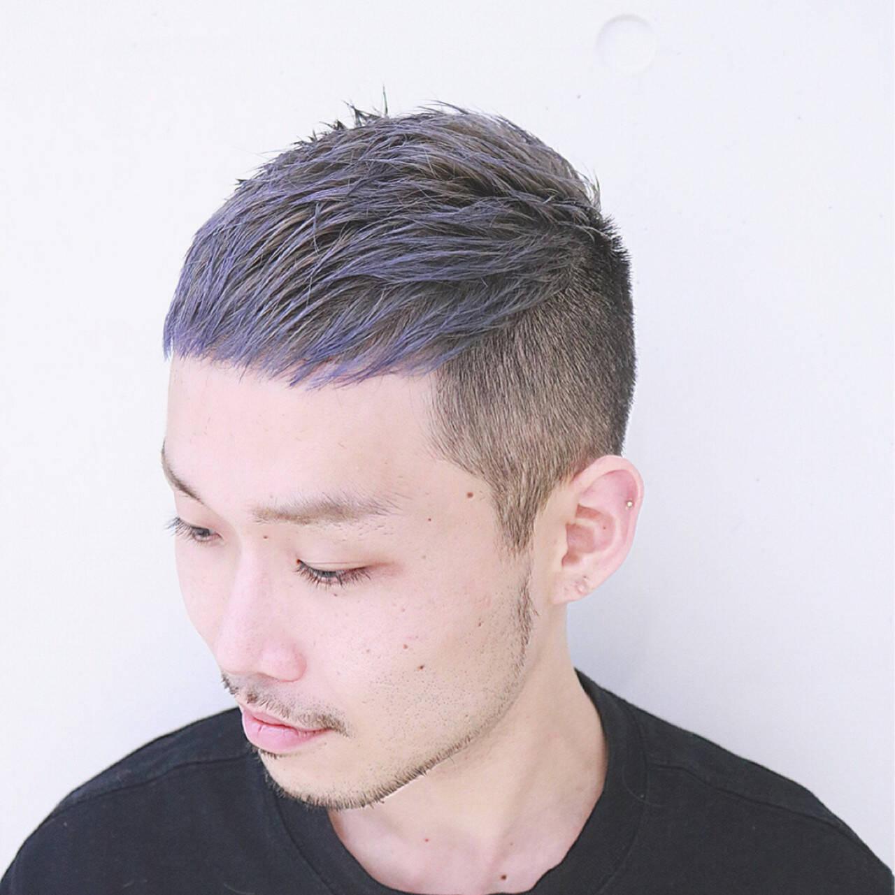 ボーイッシュ メンズ 外国人風 アッシュヘアスタイルや髪型の写真・画像