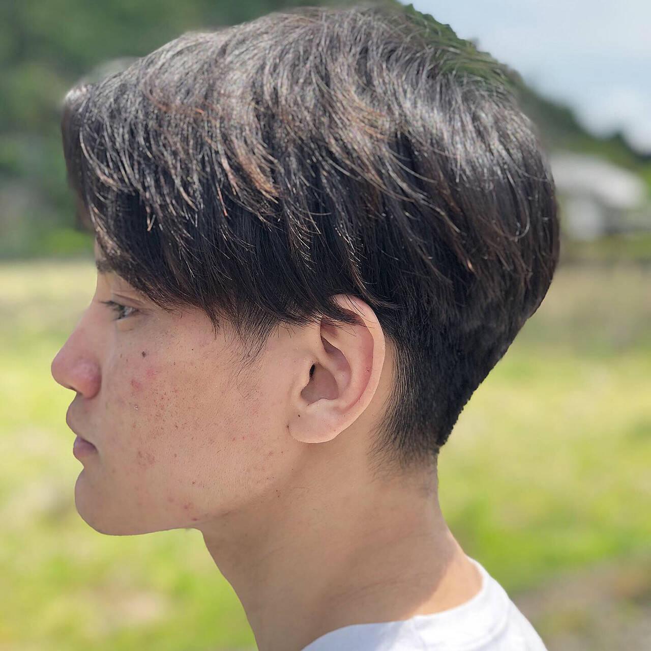 黒髪 モード メンズカット メンズヘアヘアスタイルや髪型の写真・画像