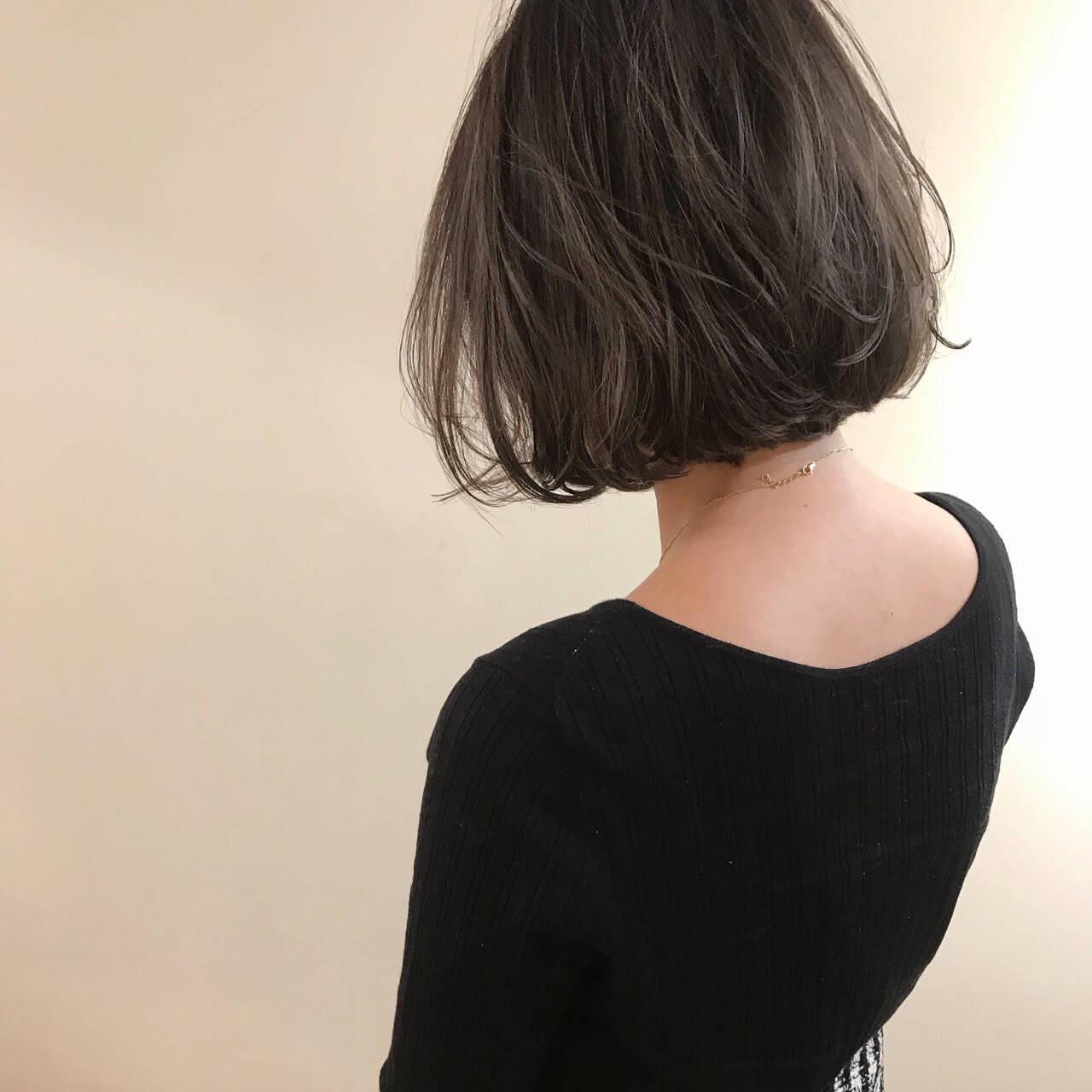 エフォートレス ハイライト 透明感 ボブヘアスタイルや髪型の写真・画像