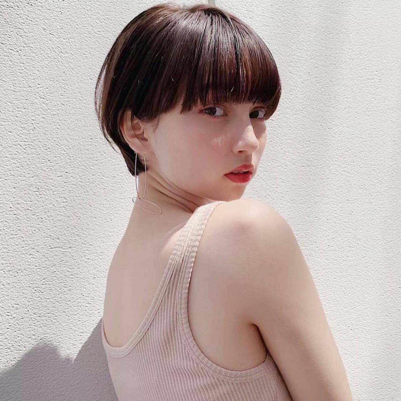 ショート 大人女子 アンニュイ デートヘアスタイルや髪型の写真・画像