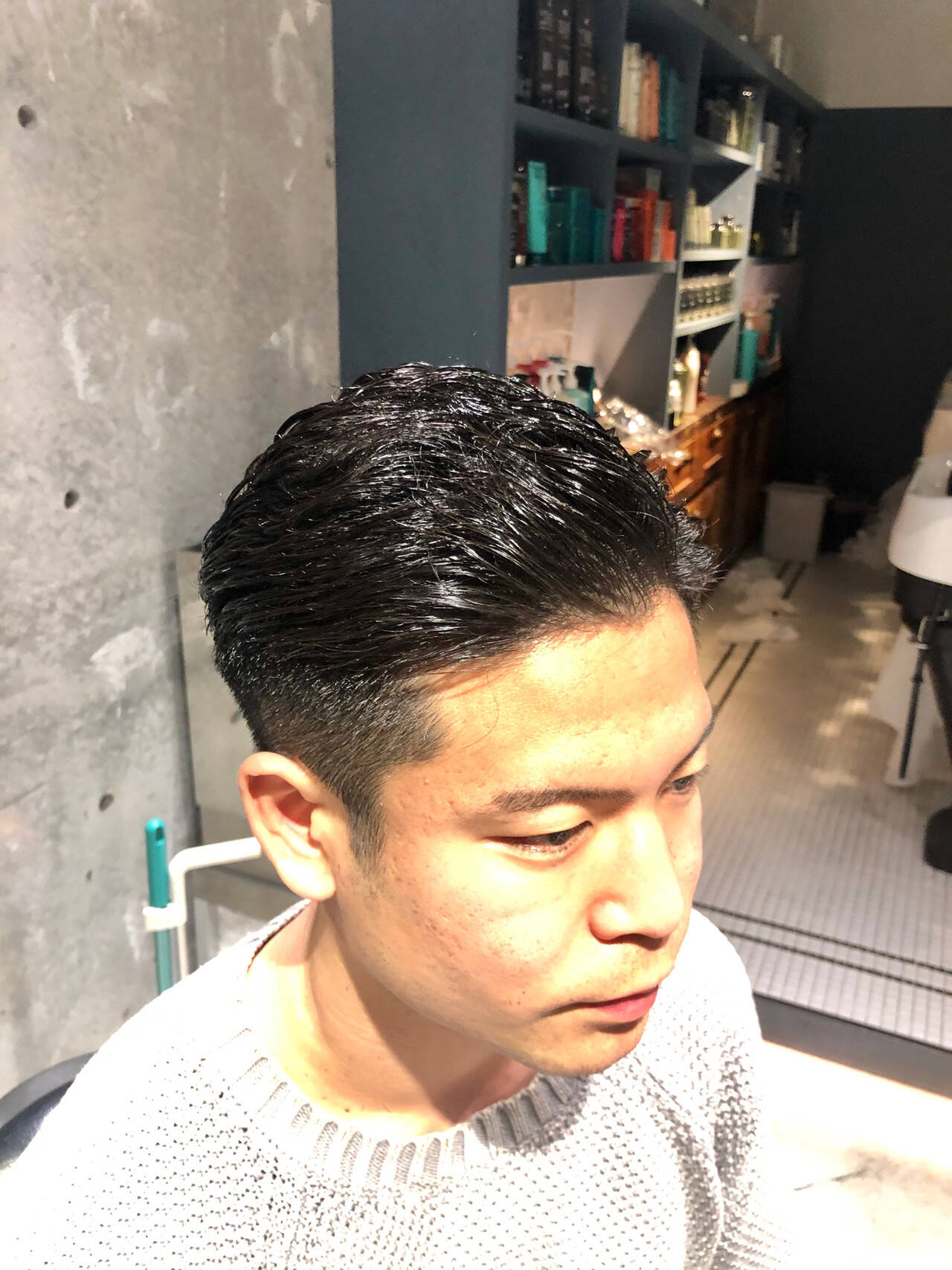 メンズカット ナチュラル メンズ メンズヘアヘアスタイルや髪型の写真・画像