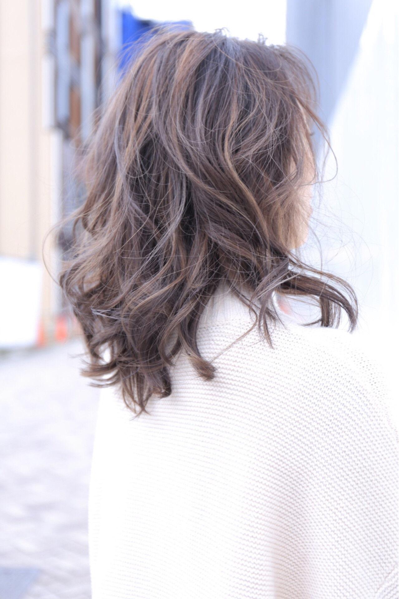 大人女子 エレガント ハイライト 上品ヘアスタイルや髪型の写真・画像
