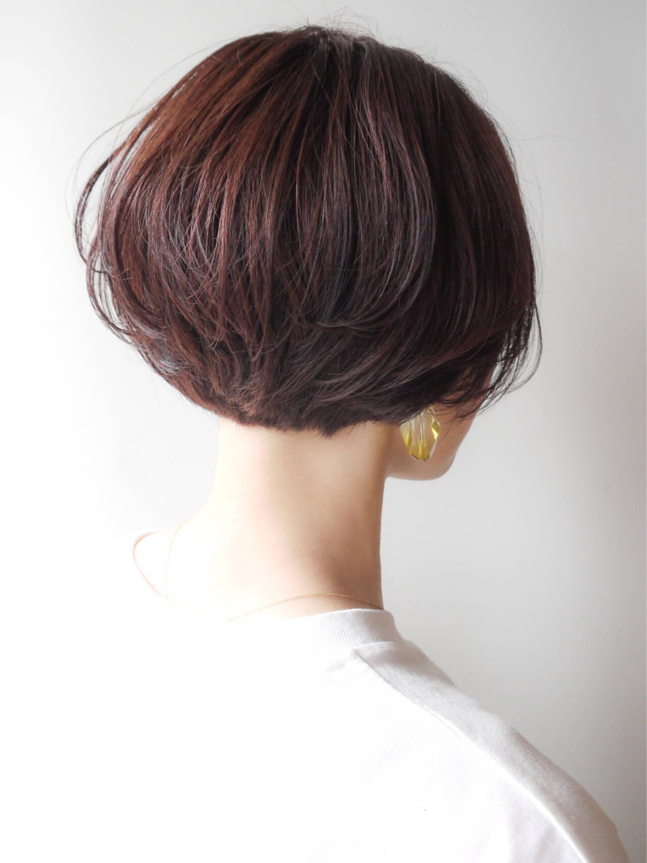 愛され モテ髪 ショート ゆるふわヘアスタイルや髪型の写真・画像